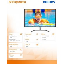 "Monitor Philips LED 32"" IPS 323E7QDAB/00 FHD..."