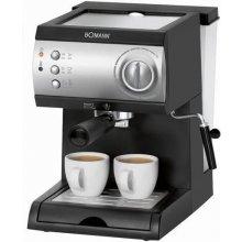 Kohvimasin Bomann ES 184 CB must hõbedane