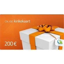 OX.ee kinkekaart 200 €