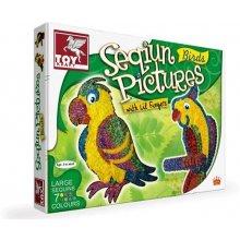 Toy Kraft Decoration с sequins - birds