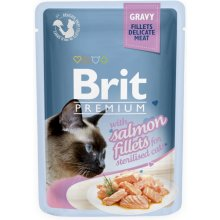 Brit Premium Salmon Fillets in Gravy for...