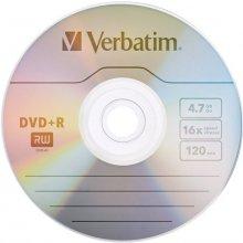 Toorikud Verbatim DVD+R Matt hõbedane 4,7GB...