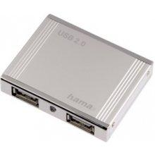 Hama USB2.0-Hub Alu mini 1:4 hõbedane