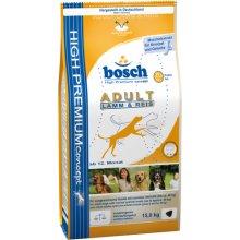 BOSCH Adult lambaliha&riisiga koeratoit 15kg
