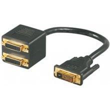 Mcab DVI Y-SPLITTER кабель 20CM BLAC