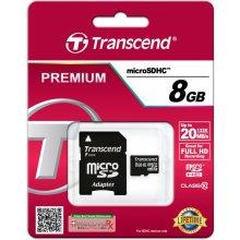 Mälukaart Transcend microSDHC 8GB Class 10 +...