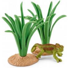 Schleich Wild Life Chameleon in reeds