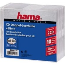 Diskid Hama CD-Leerhülle Slim Double