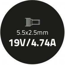 Qoltec Laptop AC power адаптер Toshiba 90W  ...