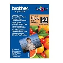 "BROTHER Paper 50 sheets glossy 6""x4"