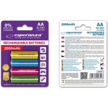 ESPERANZA Rechargeable Batteries AA 2000mAh