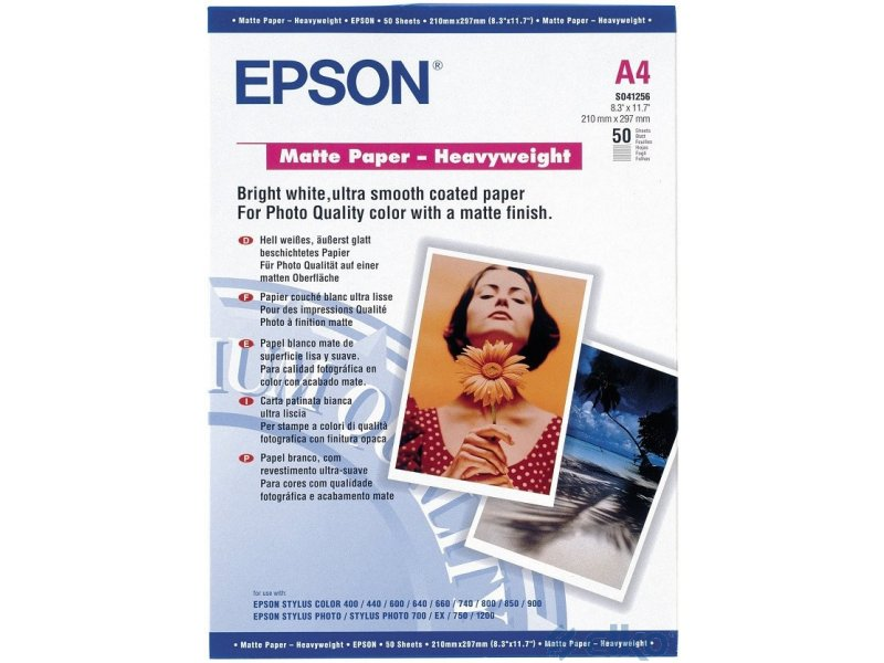 epson matte paper Epson business paper,a bright white, non-glare, matte-finish paper with luxurious weight and feel giving your documents a premium look ideal for.