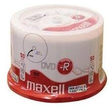 Диски Maxell DVD-R 4.7 GB 16x PRINTABLE CAKE...