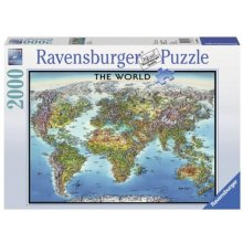 RAVENSBURGER 2000 EL. World map