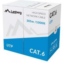 Lanberg UTP solid kaabel, CU, cat. 6, 305m...