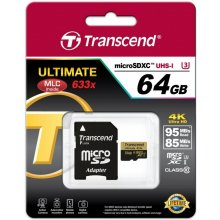 Флешка Transcend память card microSDXC 64GB...