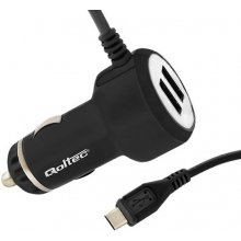 Qoltec Car adapter for mobile devices 20.5W...