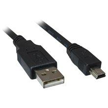 Sharkoon Kabel USB 2.0 A-B Mini 3,0m чёрный