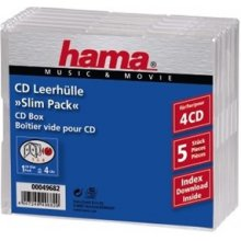 Диски Hama CD-Leerhülle SlimLine 4...
