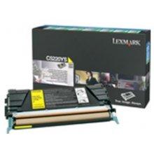 Tooner Lexmark C52X Return Toner kollane