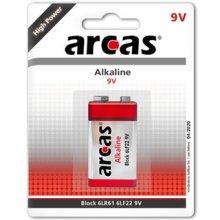 Arcas 9V/6LF22, Alkaline 6LF22, 1 pc(s)