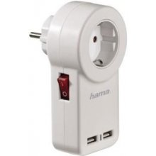 Hama USB-Steckdosenadapter mit Schalter