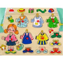 Brimarex Wooden puzzle, girl dress up