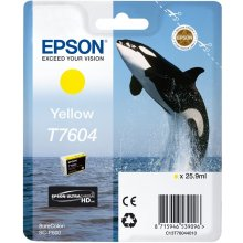 Tooner Epson tint cartridge kollane T 7604