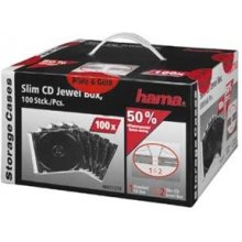 Toorikud Hama 1x100 Slim CD Jewel Case black...