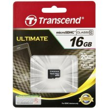 Mälukaart Transcend microSDHC 16GB Class 10