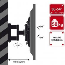 4World Single arm mount for LCD / PDP 30-54...