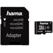 Флешка Hama microSDHC 16GB Class 10 UHS-I...