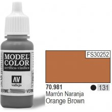 Vallejo Paint No. 131 oranž pruun 17ml Matt