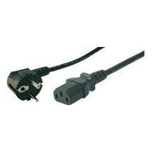 LogiLink Power Cord, Schuko-C13, black...