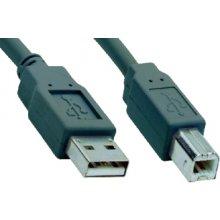 V7 V7USB2AB-1.8M, 2.0, USB A, USB B, серый