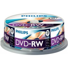 Philips 25 x DVD-RW, 4.7GB/120min, 4x...