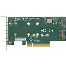 Supermicro PCIe Riser 2xM.2, low profile