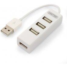 Unitek Hub 4x USB 2.0. mini, белый, Y-2146