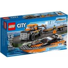 LEGO City 60085 4x4 с Powerboat