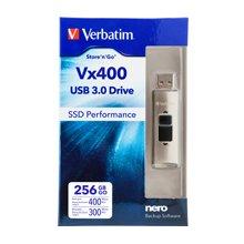 Флешка Verbatim Store n Go Vx400 256GB SSD...