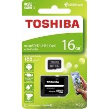Mälukaart TOSHIBA mälu card Micro SDHC 16GB...