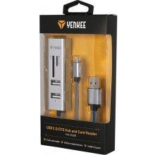 Yenkee YHC 102SR Slot SD, micro SD,3x US