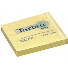 3M Märkmepaber Tartan 76x76mm, kollane, 100...