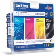 Tooner BROTHER LC-1100VALBP, Black, Cyan...
