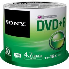 Диски Sony DVD+R 4,7 GB | 16x [cake 50 pcs]