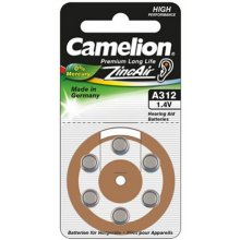 Camelion A312/DA312/ZL312, Zinc air cells, 6...