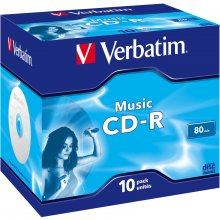 Toorikud Verbatim 1x10 CD-R 80 / 700MB Audio...