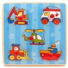 Brimarex Wooden Puzzle Vehicles