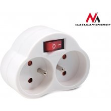 Maclean MCE31 Socket x2 koos switch