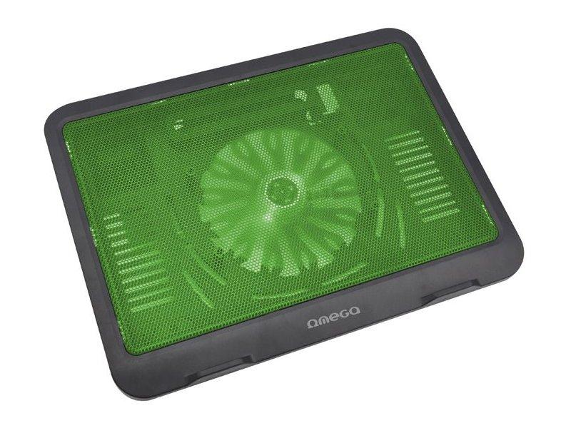 2d0d153017c OMEGA laptop cooler pad Wind, green 42429 - 01.ee